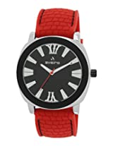 Aveiro Youth Collection Black/ Red Dial Men's Watch - AV3BKREDBK