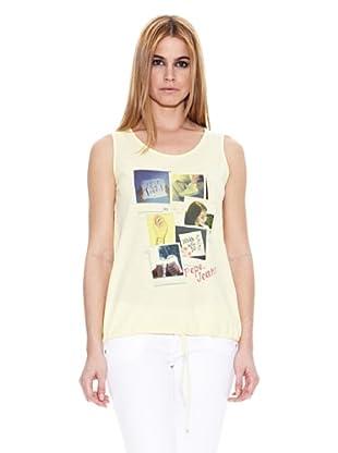 Pepe Jeans London Camiseta Sagun (Amarillo Claro)