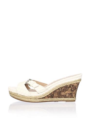 Lisa by Donald J Pliner Women's Wonnda Slide Wedge Sandal (White/Rock)