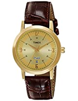 Timex Classics Analog Light Champagne Dial Men's Watch - TI000T115