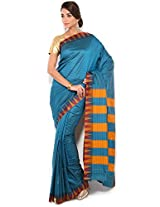 Floral Silk Saree Collections-Blue-POSB41-VS-Georgette