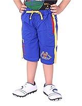 OKS Junior Blue Cotton Printed Capri For Boys | OKJ904BLU