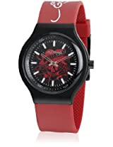 Ne-Rd Red/Black Analog Watch