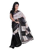 Parichay Women's Silk Saree(Black)