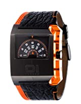 01 The One Gents Black PVD Case Turning Disk Watch with Orange Highlights