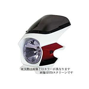 【クリックで詳細表示】Nプロジェクト(エヌプロジェクト) ビキニカウル BLUSTERII CB1300SF(~'02) エアロスクリーン(スモーク) パールフェイドレスホワイト 93003: 車&バイク