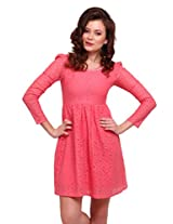 Street 9 Women's Skater Dress (PD0100_Pink_Large)