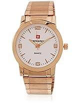 10007 Golden /White Analog Watch