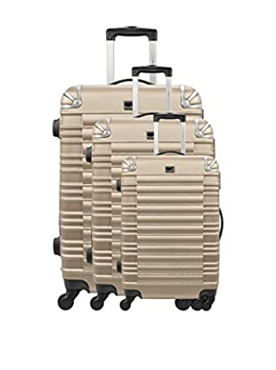 BLUESTAR Set 3 Trolley Rigido Lima