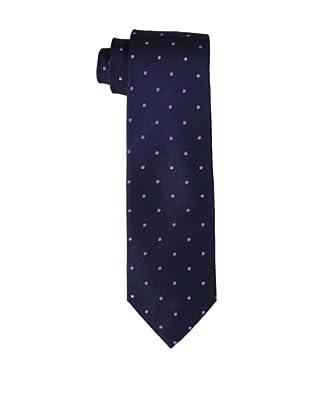 Yves Saint Laurent Men's Dot Tie, Purple/Navy