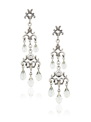 Robin Rotenier Cascade Earrings, Silver/Topaz
