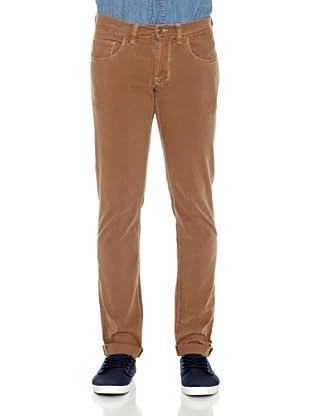 Carrera Jeans Pantalón Gabardina Stretch (Marrón)