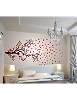 Wallcano Decals Design Lovely Autumn Tree 1027 Wall Sticker