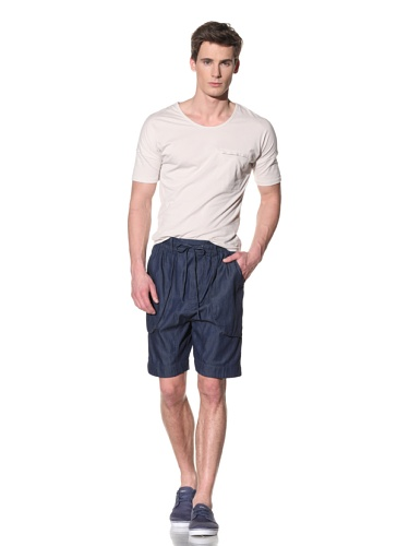 Fremont Men's Eding Pocket Three Quarter Sleeve Shirt (Off white)