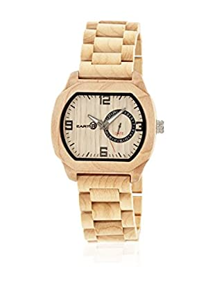 Earth Reloj con movimiento cuarzo japonés Unisex Scaly Ethew2101 Beige 46 mm