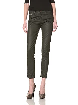 Rockstar Denim Women's Skinny Jean (Army Green)