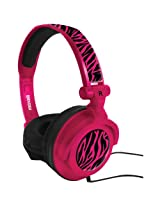 Maxell 190220 AMP-PZ Amplified Heavy Bass Headphones Hot Pink
