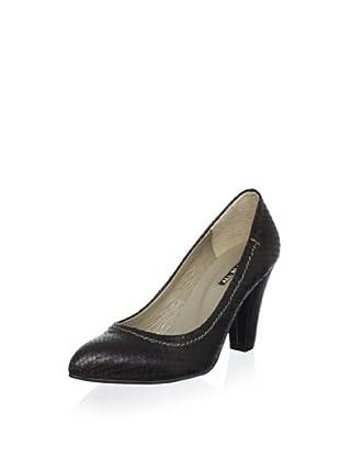ALL BLACK Women's Textured Heel Pump (Coffee)