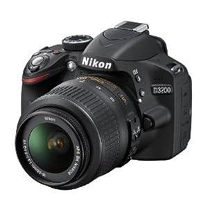 Nikon D3200 Digital SLR Camera (Black) with AF-S DX 18-55mm VR II and AF-S DX 55-200mm VR II , Double Zoom Kit with 8GB Card, Camera Bag