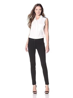 Calvin Klein Women's Skinny Woven Pant (Black)