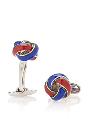 Link Up Red & Navy Knot Cufflinks