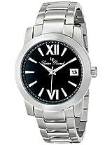 Lucien Piccard Men's LP-10026-11 Bordeaux Analog Display Japanese Quartz Silver Watch