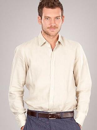 Hugo Boss Camisa Básica (Beige)