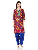 Shree Women's Straight Kurta with Patiala