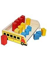 Skillofun Wooden 3D Geo Shape Sorter - Bus, Multi Color