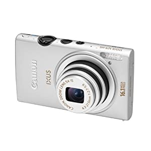 Canon IXUS 125 HS 16.1MP Point and Shoot Digital Camera (Silver) with SD Card, Camera Case