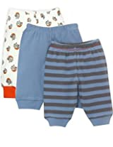 Bubbles Pajama Leggings with Booties for New Born- Set of 3 (0-3 Months)