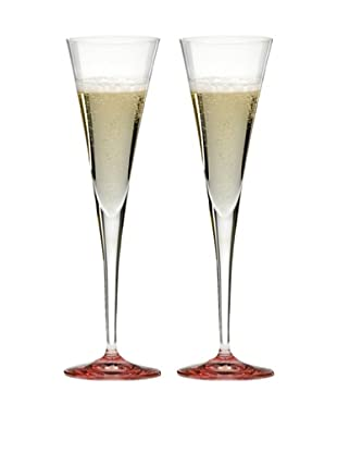Riedel Set of Two Ouverture Pink Toasting Flutes