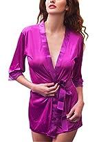 Kaamastra Purple Satin Robe