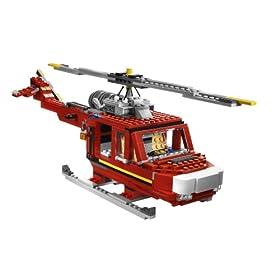 レゴ クリエイター消防車6752の組み替え例で作ったヘリコプター