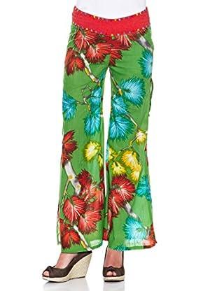Peace & Love Pantalón Estampado (Verde)