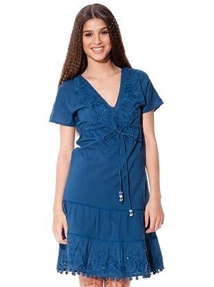 Flamenco Vestido Fiorella (Azul)