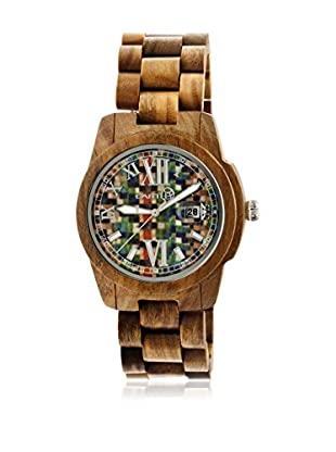 Earth Reloj con movimiento cuarzo japonés Unisex Heartwood Ethew1508 Marrón Medio 43 mm