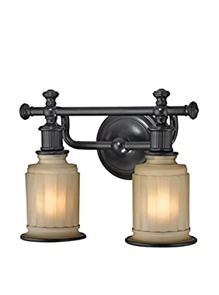 Artistic Lighting Acadia Collection 2-Light LED Bath Bar, Oil Rubbed Bronze