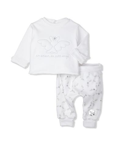 Berlingot Baby Reversible 2-Piece Set (White)