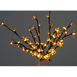 Yellow Crystal Flowers Branch Lights