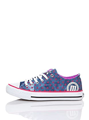 MTNG Zapatillas Cordones (Azul Denim / Fucsia)