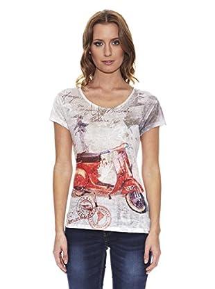 Peace & Love Camiseta Estampada (Beige)