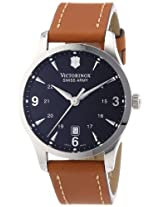 Victorinox Swiss Army Analog Alliance Black Dial Brown Strap Watch Men's Watch 241475