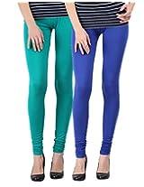 Blackmilan Women's Leggings (ZBMWL-1004-Green-Rblue_Multi-Coloured_X-Large)