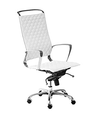 Zuo Jackson High-Back Office Chair, White