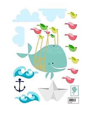 Baleno Wandtattoo Whaleride