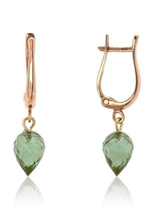 Robin Rotenier Green Tourmaline Harp Earrings