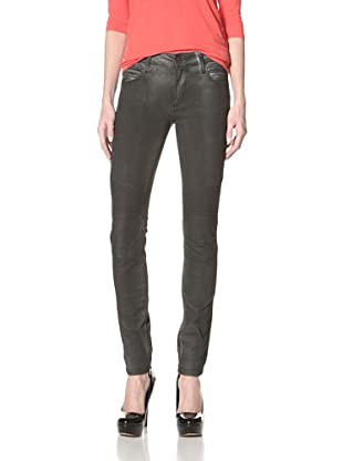 Rockstar Denim Women's Biker Washed Jean (Vintage Pigment Black)