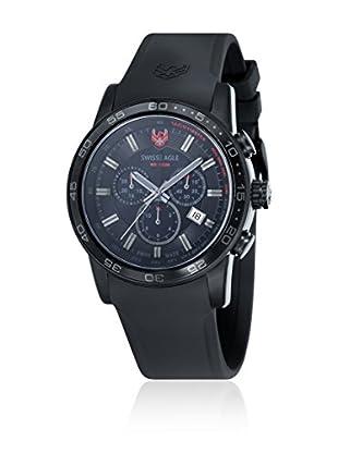 Swiss Eagle Uhr mit Schweizer Quarzuhrwerk Terrain schwarz 45 mm