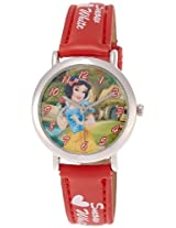 Disney Analog Multi-Color Dial Women's Watch - 3K2199U-PS (RED)